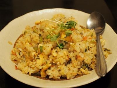 豆腐と野沢菜の炒飯.JPG